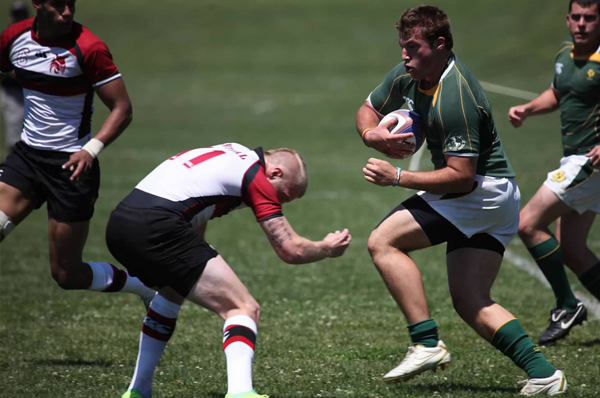 Tighthead prop Eric Parsons against Central Washington in 2012. Photo by Karen Drinkwater