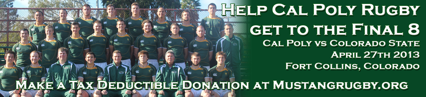 Donate at Mustangrugby.org