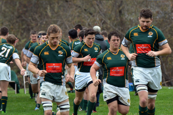 Cal Poly runs out against UCLA at Riverbottom Rugby Field in Arroyo Grande. Photo Leanna Long
