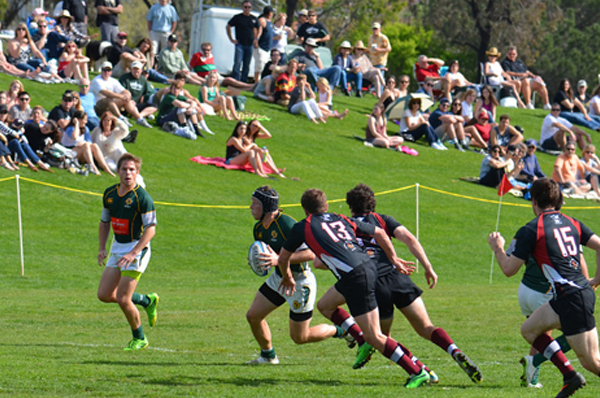The San Luis Obispo rugby fans saw a great game at the Cal Poly Rec Fields. Photo Leanna Long.
