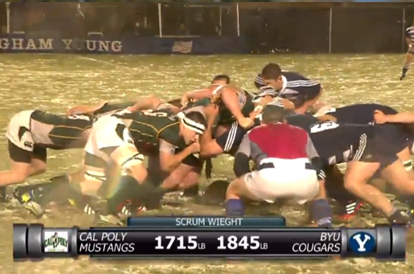 Cal Poly destroyed the heavier BYU scrum.