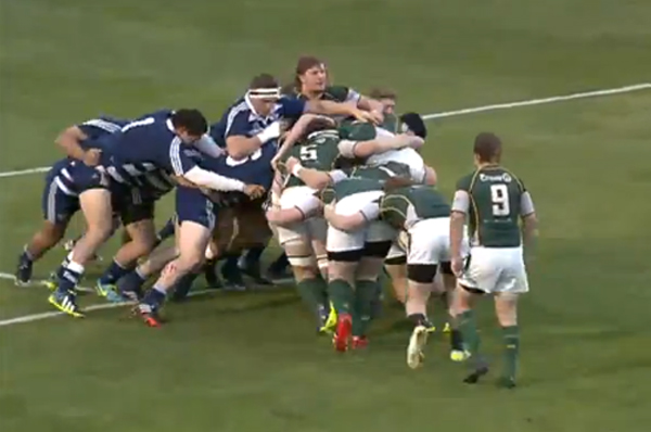 Cal Poly stunned the home side with a driving maul try in the 2nd minute of the match.