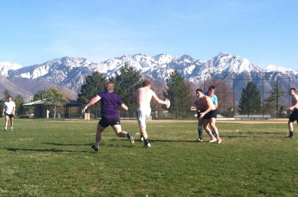 Cal Poly practice at beautiful Sugar House Park in Salt Lake City.