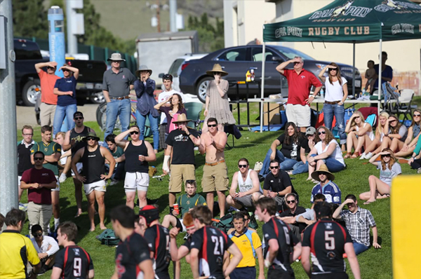 Cal Poly will need another strong home crowd for this Saturday's playoff match against Wyoming. Photo Karen Drinkwater