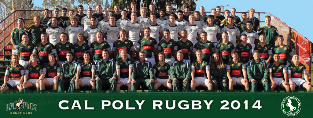 The 2014 Cal Poly Rugby Club Photo