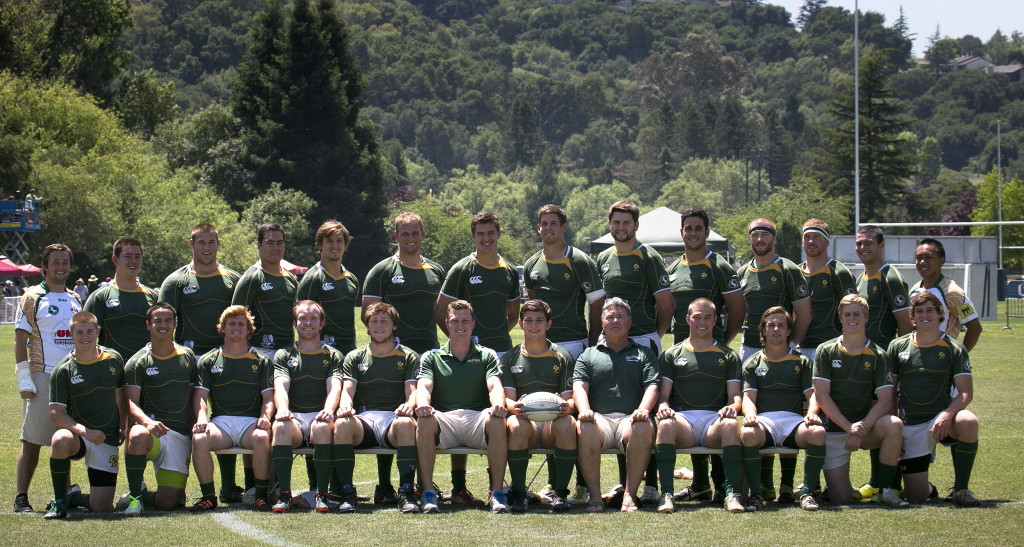 The Mustangs 1st XV before the 2013 D1A Semi Final against St Mary's College. Photo Karen Drinkwater