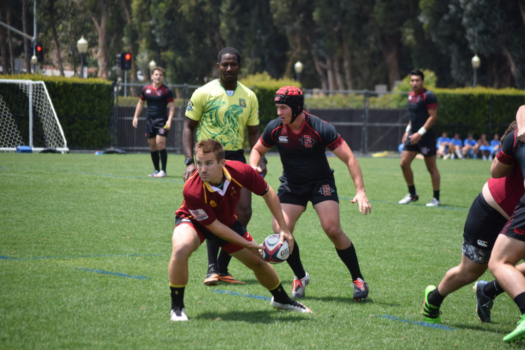 Arizona State against San Diego State at UCLA in a friendly 7s tournament. Photo Daniel Dempster