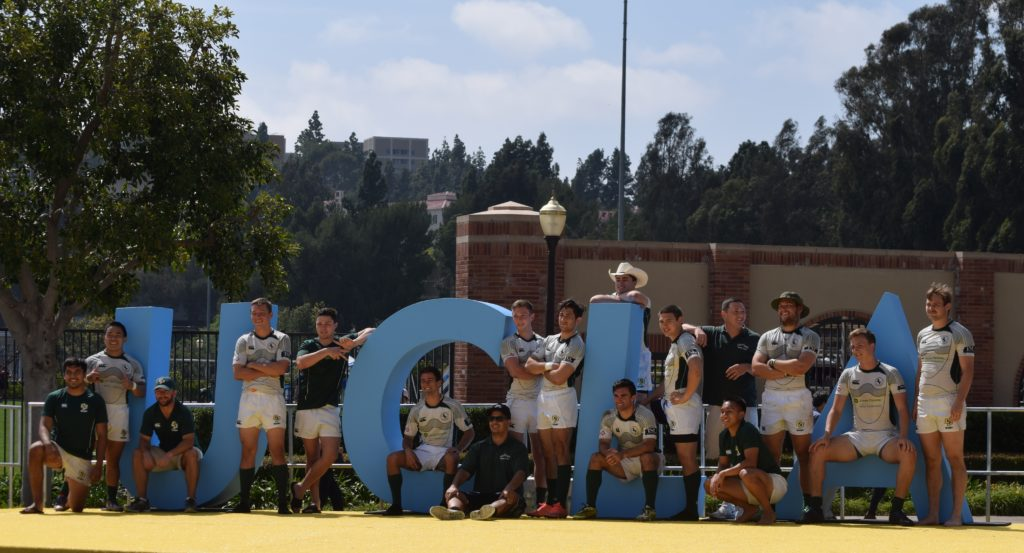 Cal Poly after a friendly 7s tournament at UCLA. Photo Daniel Dempster