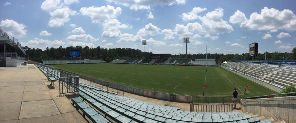 The site of the 2016 USA College 7s National Championships in Cary, N.C.
