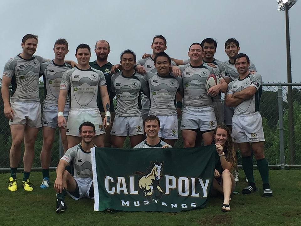 Cal Poly 7s after their win against Arkansas in the 2016 USA College 7s National Championships.