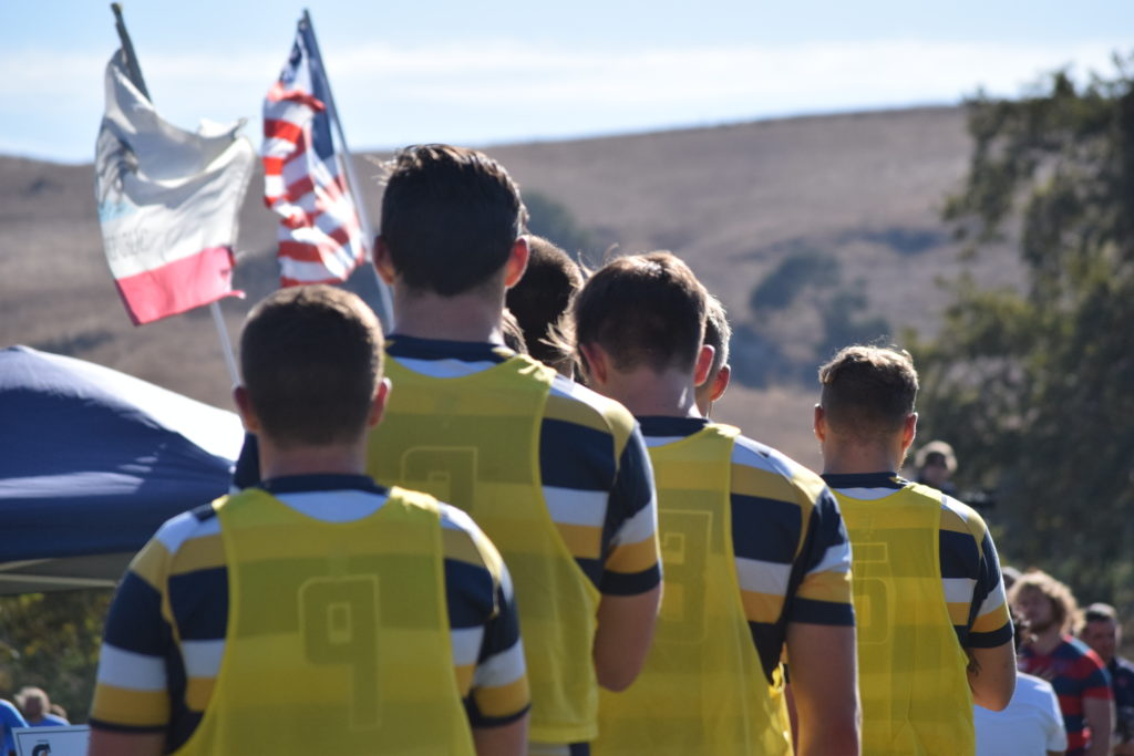 California stands for the national anthem before the Cup Final. Photo Daniel Dempster