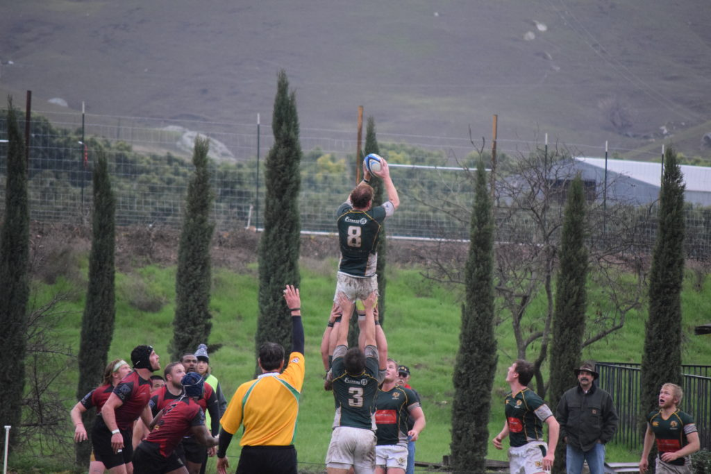 Cal Poly beat SLORFC behind #8 John Joe Murphy's 4-try performance in the last matchup between the two teams.